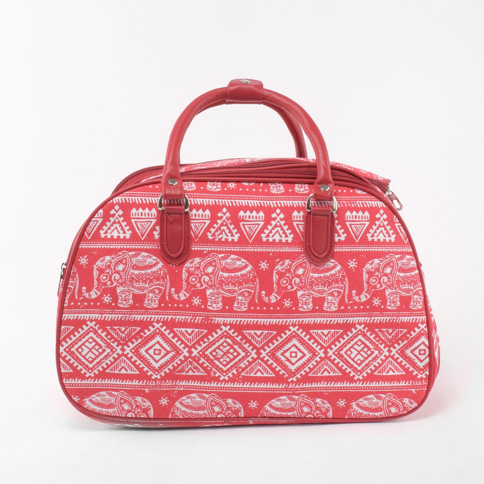 08822d99ed72 Besty Közepes Méretű Piros Mintás Utazótáska - KÖZEPES MÉRETŰ UTAZÓTÁSKA -  Táska webáruház - Minőségi táskák mindenkinek
