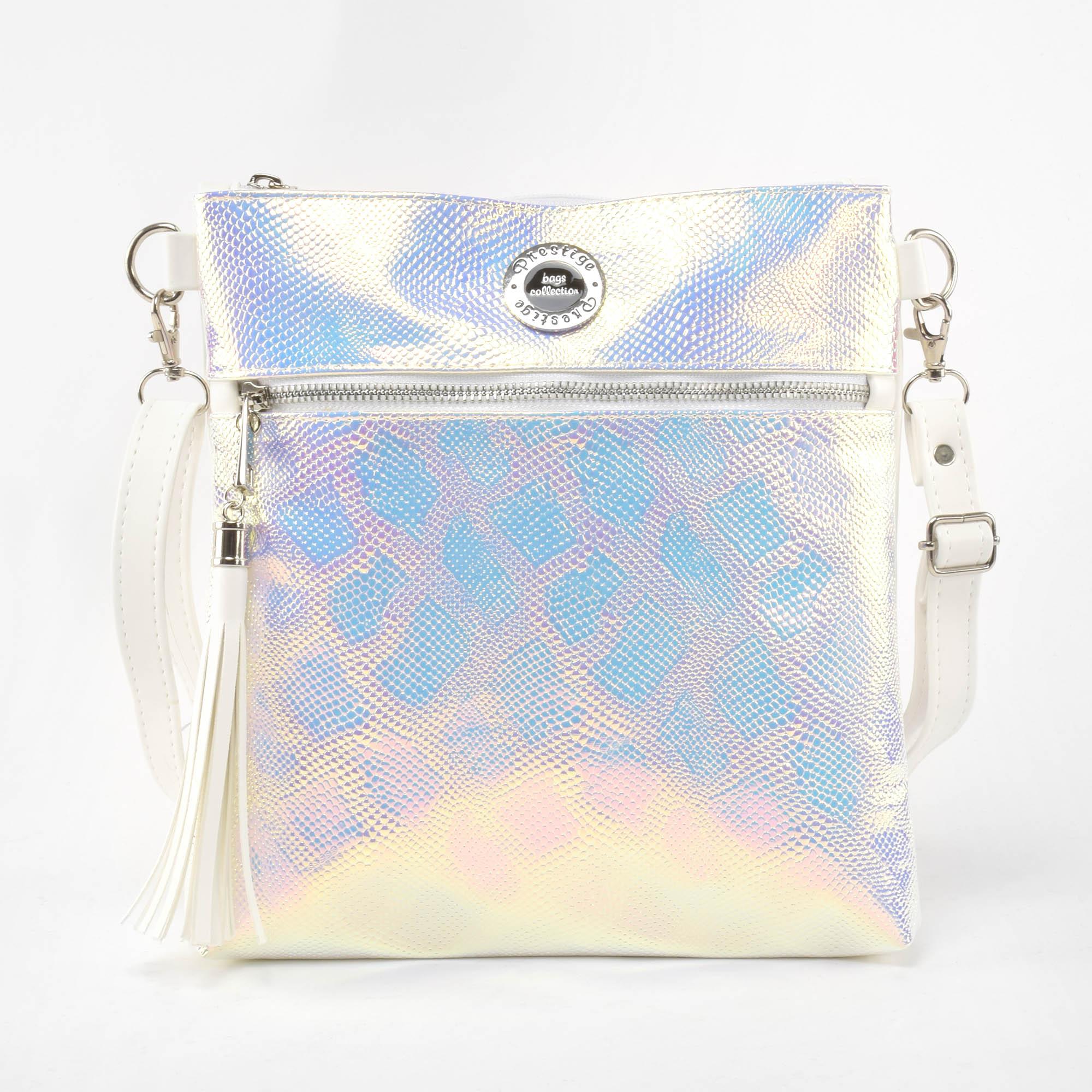 6dd044c04631 Prestige Női Fehér Kígyóbőr mintás Rostbőr Oldaltáska - Oldaltáskák - Táska  webáruház - Minőségi táskák mindenkinek